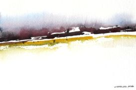 Abstract art,Landscape art,watercolor painting,Mountain Foothills