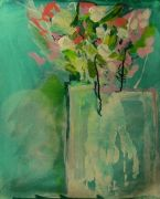 still life art,botanical art,mixed media artwork,Flowers study Vi