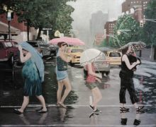people art,city art,acrylic painting,I Love New York