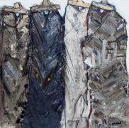 People art,Western art,acrylic painting,Four Good Men