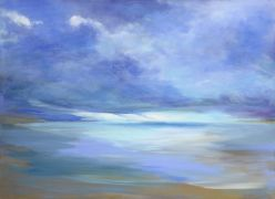 abstract art,nature art,seascape art,acrylic painting,April Sky - Coastal Bluffs Park 3 (2012-4)