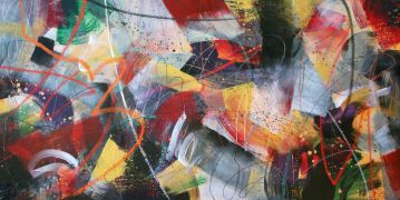Abstract art,acrylic painting,Ligamoopsy
