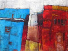 abstract art,buildings art,acrylic painting,Choices II