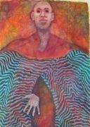 people art,surrealism art,pastel artwork,Magician