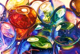 abstract art,watercolor painting,Glass Gems 3