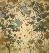 nature art,botanical art,oil painting,Brown Tangle
