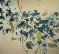 botanical art,oil painting,Blue Winter Vine