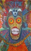 people art,surrealism art,pastel artwork,Witch Doctor