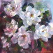 Flora art,acrylic painting,Mixed Magnolias