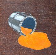 Pop art,oil painting,Orange Spill