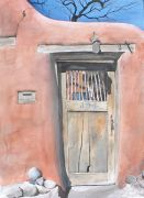 buildings art,watercolor painting,Delgado Gate