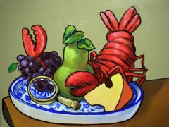 still life art,acrylic painting,Dutch Still Life with Lobster