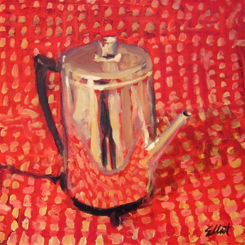 Original art for sale at UGallery.com | Coffee Pot by Elliot Coatney | $600 | acrylic painting | 24' h x 24' w | http://www.ugallery.com/acrylic-painting-coffee-pot