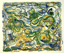 Abstract art,printmaking,Pathways Green