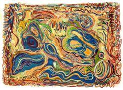 Abstract art,printmaking,Spiral 18
