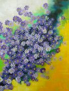 botanical art,oil painting,Purple Aster