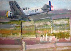 Landscape art,Vroom Vroom! art,acrylic painting,AT6/Stockton Field