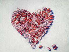 Still Life art,oil painting,Jelly Bean Heart