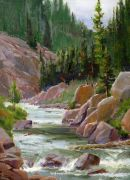 landscape art,nature art,oil painting,San Juan Cascades