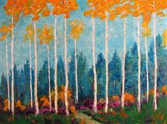 Landscape art,Nature art,oil painting,Fall Display