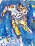 sports art,mixed media artwork,Franco Harris