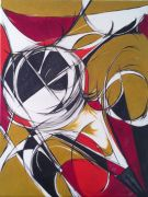abstract art,oil painting,Figure in Circles 2