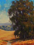 landscape art,oil painting,Roadside Eucalyptus