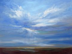 landscape art,nature art,oil painting,Heavenly Light IV