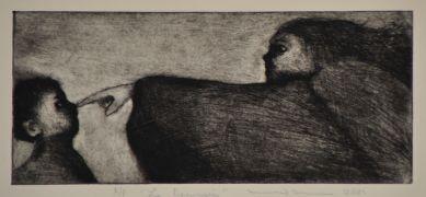 People art,printmaking,Le Denuncia