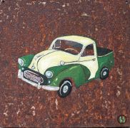 vroom vroom! art,oil painting,Mini Pickup