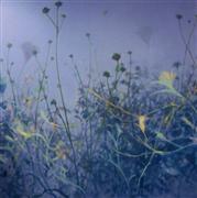 nature art,botanical art,oil painting,Periwinkle Garden