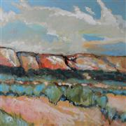 Landscape art,acrylic painting,Cliffs And Sage