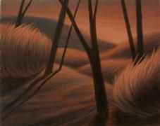 landscape art,nature art,surrealism art,oil painting,Forms and Shapes III