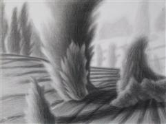 landscape art,nature art,charcoal drawing,Forms and Shapes VIII