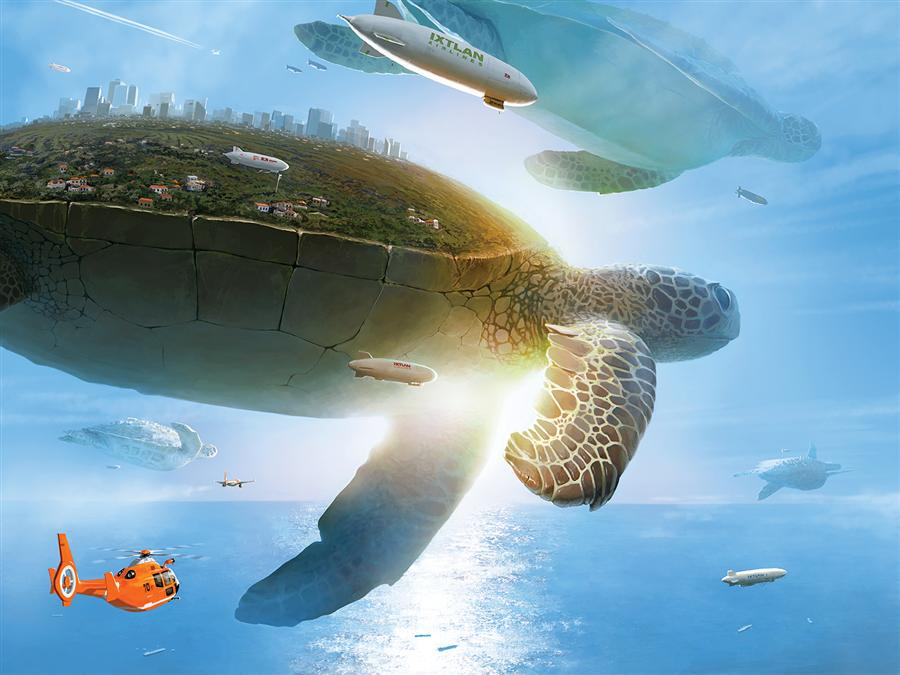 Original art for sale at UGallery.com | Utopia by ALEX ANDREEV | $1,350 | Digital printmaking | 27.6' h x 36.7' w | ..\art\printmaking-digital-Utopia
