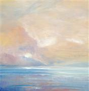 Abstract art,Seascape art,acrylic painting,Ethereal Light