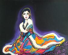 people art,acrylic painting,Antoinette