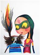 Animals art,People art,marker artwork,Loop