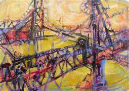 Abstract art,Architecture art,acrylic painting,Criss Cross
