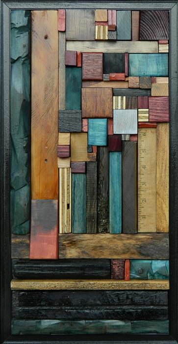 Original art for sale at UGallery.com | Between the Lines by HEATHER PATTERSON | $1,100 |  | 21' h x 11' w | ..\art\sculpture-Between-the-Lines