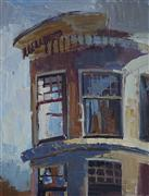 Architecture art,oil painting,Windows
