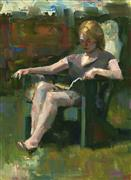impressionism art,people art,oil painting,Reader #23 (large)