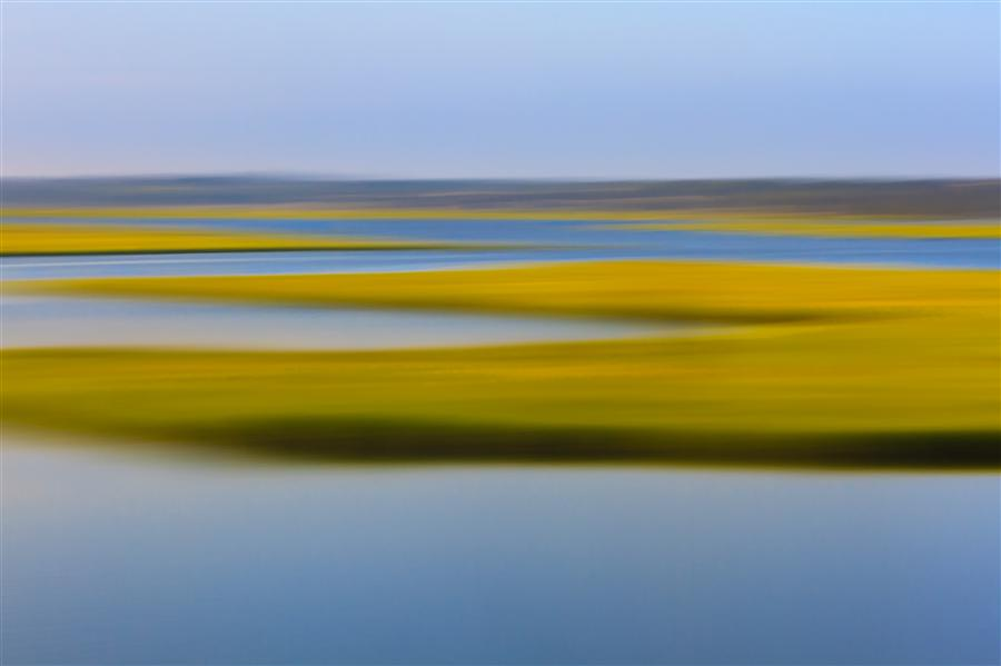 Original art for sale at UGallery.com | Evening Marsh by Katherine Gendreau | $350 | photography | 36' h x 24' w | ..\art\photography-Evening-Marsh
