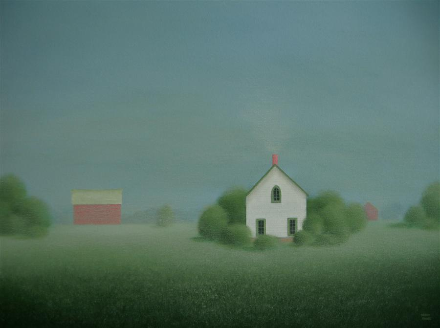 Original art for sale at UGallery.com | On a Misty Morning by SHARON  FRANCE | $975 | Acrylic painting | 18' h x 24' w | ..\art\acrylic-painting-On-a-Misty-Morning