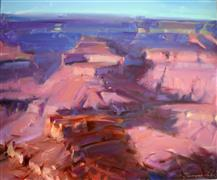 Impressionism art,Western art,oil painting,Early Morning Grand Canyon