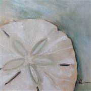 Seascape art,Still Life art,oil painting,Sand Dollar No. 2