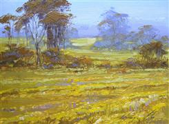 Landscape art,Nature art,oil painting,A Touch of Summer
