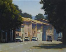 Architecture art,Landscape art,oil painting,Passing Through