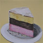 pop culture art,still life art,acrylic painting,Neapolitan Slice
