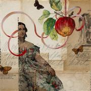 people art,mixed media artwork,Temptation #2